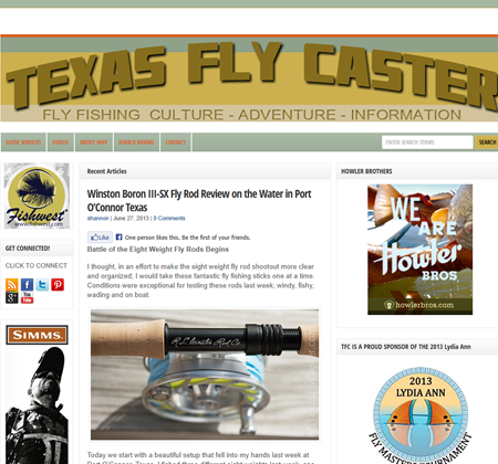 Shannon Drawe and TexasFlycaster.com WordPress Fix Testimonial