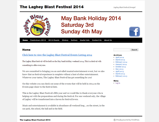 Joy Harron and LagheyBlastFestival.com testimonial for wordpress virus cleaning and recovery service