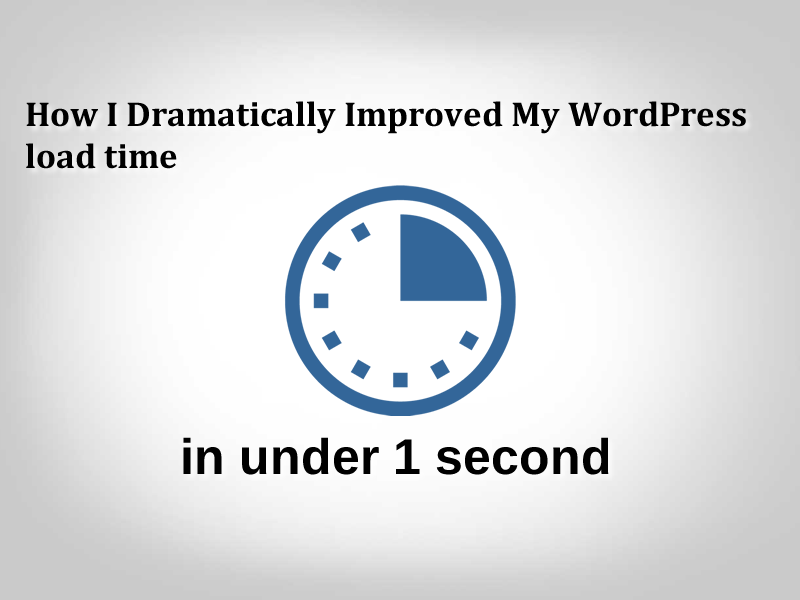 How I Dramatically Improved my WordPress Load Time