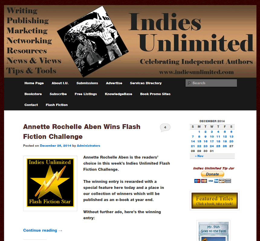 indiesunlimited wordpress support