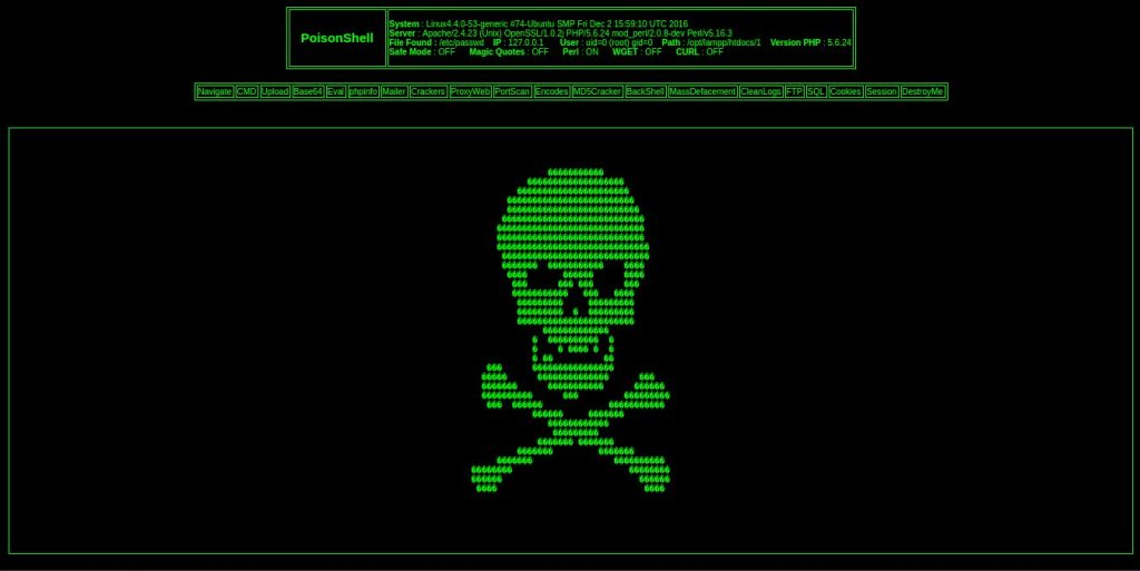poison shell – webshell backdoor